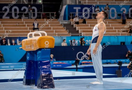 Stock Photo of Max Whitlock wins his 3rd Gold Medal