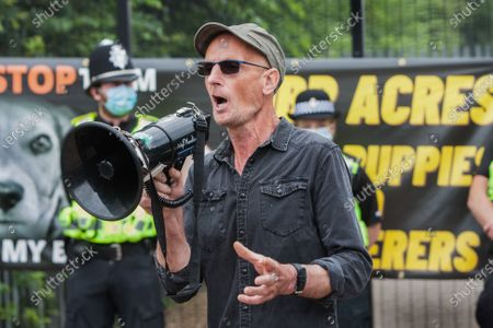 Editorial image of Camp Beagle protest in Huntingdon, UK - 01 Aug 2021
