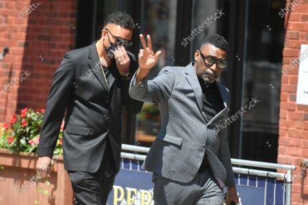 Big Daddy Kane attends the funeral for Marcel Theo Hall a/k/a Biz Markie at the Patchogue Theatre for the Performing Arts in New York.