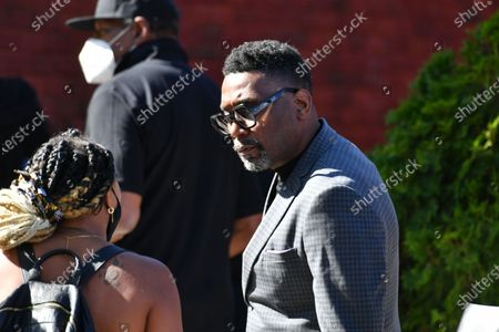 Big Daddy Kane attends the funeral for Marcel Theo Hall a/k/a Biz Markie at the Patchogue Theatre for the Performing Arts