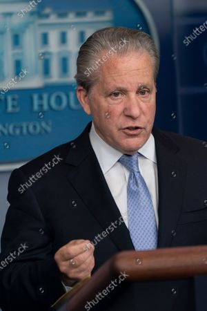 White House American Rescue Plan Coordinator and Senior Advisor to the President Gene Sperling holds a briefing at the White House in Washington, DC,