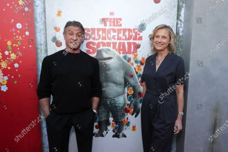 Sylvester Stallone, Ann Sarnoff, Chairman and CEO of Warner Bros.