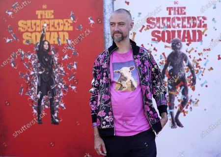 """Sean Gunn, a cast member in """"The Suicide Squad,"""" poses at the premiere of the film at the Regency Village Theatre, in Los Angeles"""