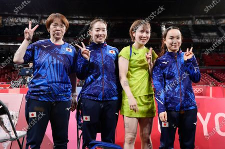 Editorial photo of Tokyo Olympic Games 2020 - Table Tennis, Tokyo, Japan - 03 Aug 2021