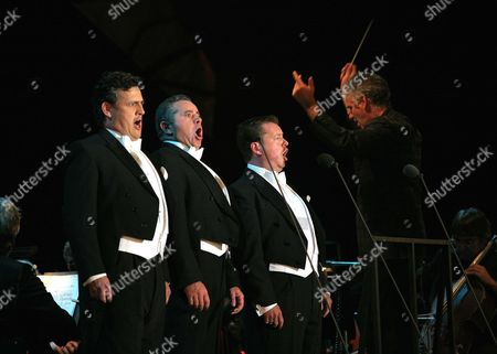 The Three Welsh Tenors - Rhys Meirion, Aled Hall and Alun Rhys-Jenkins and BBC Wales National Orchestra conductor Grant Llewellyn