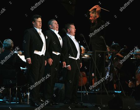 The Three Welsh - Tenors Rhys Meirion, Aled Hall and Alun Rhys-Jenkins and BBC Wales National Orchestra conductor Grant Llewellyn