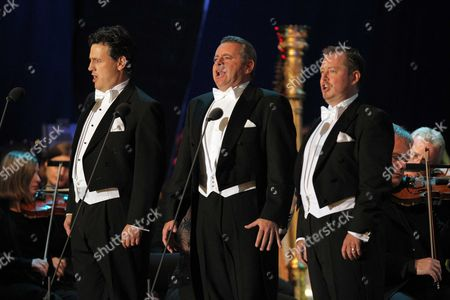Stock Picture of The Three Welsh - Tenors Rhys Meirion, Aled Hall and Alun Rhys-Jenkins