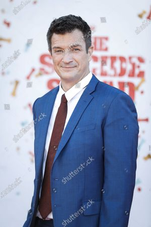 Nathan Fillion poses on the red carpet prior to the world premiere of DC Film's 'The Suicide Squad' at the Regency Village Theatre in Los Angeles, California, USA, 02 August 2021. The movie will be released in US theaters on 06 August 2021.