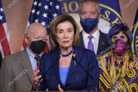 Editorial photo of Speaker Pelosi On American Rescue Plan Conferences, Washington, United States - 30 Jul 2021