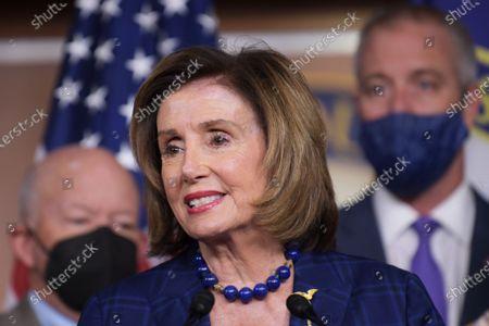 Editorial image of Speaker Pelosi On American Rescue Plan Conferences, Washington, United States - 30 Jul 2021