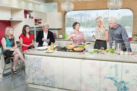 Stock Photo of Borra Garson, Olly Smith, Tana Ramsay, Caroline Mi Li Artiss with Holly Willoughby and Phillip Schofield