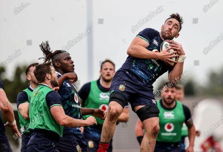 British & Irish Lions Squad Training, South Africa 3/8/2021. Elliot Daly, Maro Itoje and Jack Conan