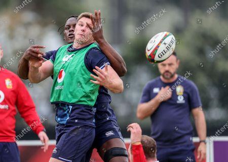 British & Irish Lions Squad Training, South Africa 3/8/2021. Maro Itoje with Owen Farrell