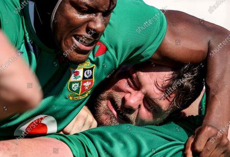 British & Irish Lions Squad Training, South Africa 3/8/2021. Rory Sutherland and Maro Itoje