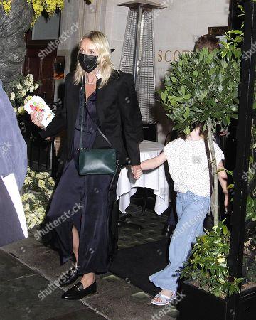 Julia Carey and Carey Corden are seen leaving Scott's