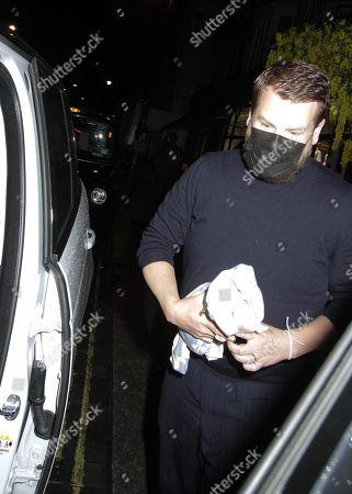 Stock Picture of James Corden is seen leaving Scott's