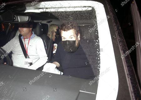 Stock Image of James Corden is seen leaving Scott's