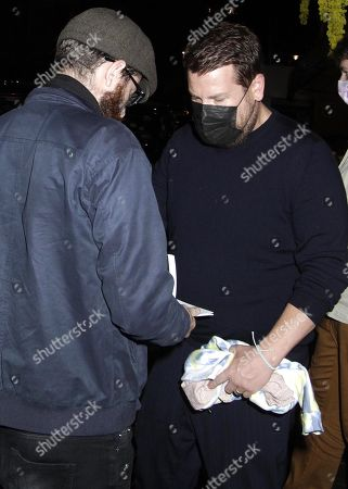 James Corden is seen leaving Scott's