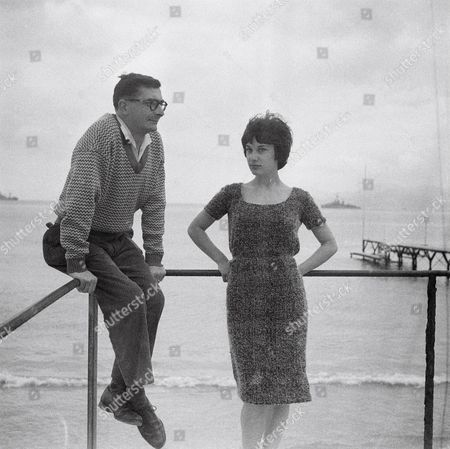 Bernadette Lafont and Claude Chabrol