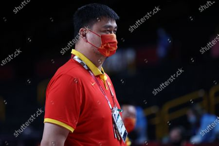 Chinese basketball executive Yao Ming is seen during the Women's Basketball quarterfinal match between China and Serbia at the Tokyo 2020 Olympic Games at the Saitama Super Arena in Saitama, Japan, 04 August 2021.