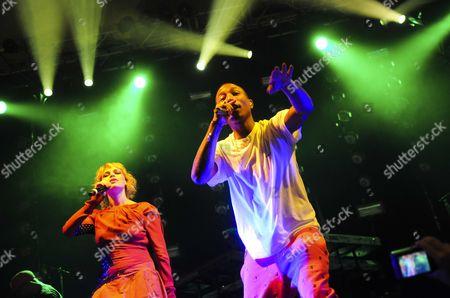 Uffie and Pharrell Williams
