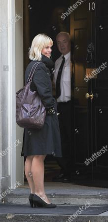 Nick Clegg's press Officer Lena Pietsch arriving at No10 for work this morning