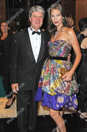 Yves Carcelle president of Louis Vuitton and Christy Turlington