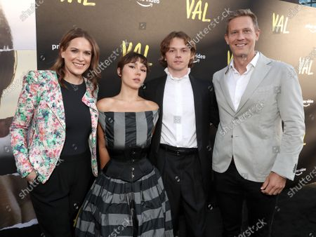 """Co-Head of Movies at Amazon Studios Julie Rapaport, Mercedes Kilmer, Jack Kilmer and Co-Heads of Movies at Amazon Studios Matt Newman attend Amazon Studios """"Val"""" Premiere"""