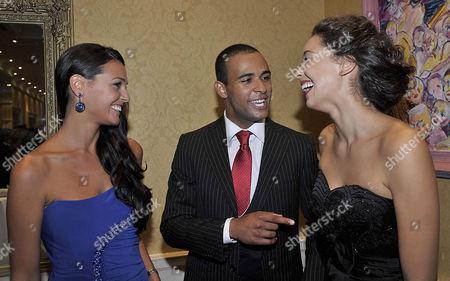Kaiane Aldorino (Miss World 2009), Kamal Ibrahim (Mister World 2010) and Azra Akin (Miss World 2002)