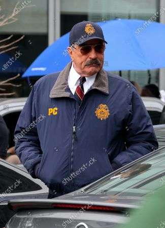 """Stock Picture of Tom Selleck is seen on the set of """"Blue Bloods"""""""