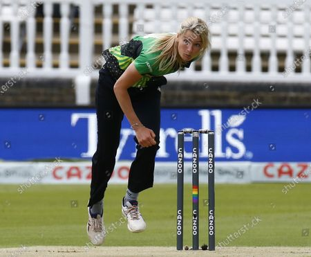 Stock Picture of James Vince of Southern Brave during The Hundred between London Spirit Women and Southern Brave Women at Lord's Ground , London, UK on 1st August 2021