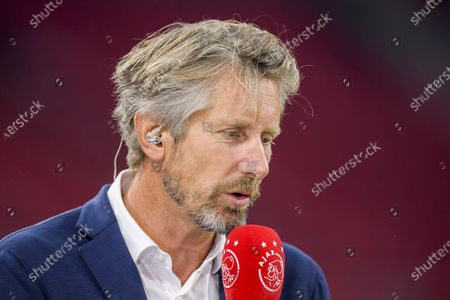 Stock Image of Edwin van der Sar during the Ajax - Leeds United friendly match at the Johan Cruijff Arena in Amsterdam