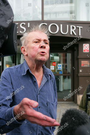 Editorial image of TV presenter Ray Gosling arriving at Nottingham Magistrates court, Nottinghamshire, Britain - 14 Sep 2010