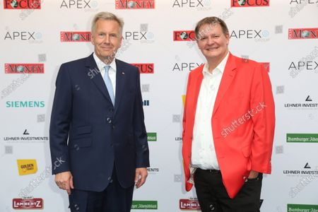 Stock Picture of Former Federal President Christian Wulff and host Sören Bauer