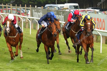 Stock Image of BIG BOY BOBBY ridden by Oisin Murphy beating Fascinating Shadow (centre) & Cafe Sydney (left) in The Woodcote Flying Club BBQ Handicap Stakes at Brighton Copyright: Ian Headington/racingfotos.com