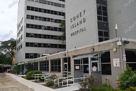 Coney Island Hospital on Ocean Parkway in Brooklyn, New York.