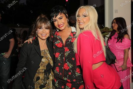 Paula Abdul, Demi Lovato and Tana Mongeau attend a 'Cooking with Paris' Special Screening Event to Celebrate Paris Hilton's New Netflix Show