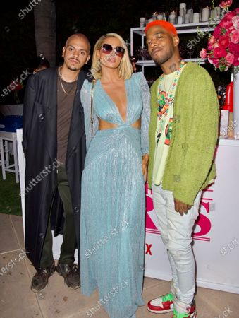 Evan Ross, Paris Hilton and Kid Cudi attend a 'Cooking with Paris' Special Screening Event to Celebrate Paris Hilton's New Netflix Show