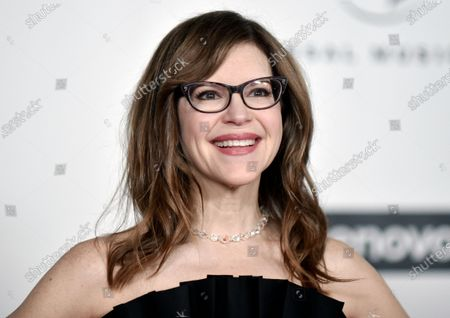 """Grammy Award-winner Lisa Loeb attends the Universal Music Group 2020 Grammy after party in Los Angeles on . Loeb was inspired to capture the weirdness, wonder and horror of 2020 during a Brown University online reunion. She tapped dozens of her fellow alumni to create """"Together Apart,"""" a collection of 10 mini-musicals that capture a year online"""