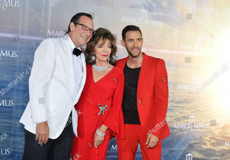 Marcel Remus and Joan Collins and Ehemann Percy Gibson