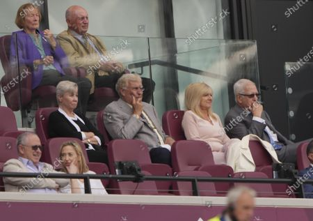 Sir Trevor Brooking sitting in the Director's Box