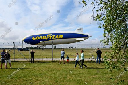 Editorial photo of Giant Zeppelin airship at Roskilde Airport, Denmark - 06 Aug 2021