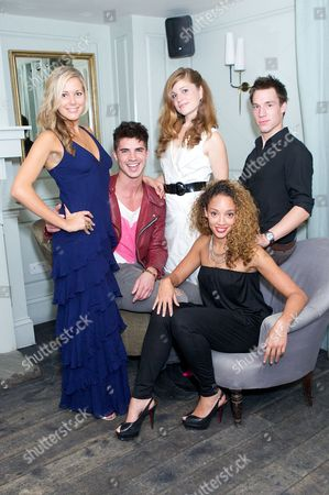 Emily Tierney, Sam Robertson, Alice Bird (white dress), Camilla Beeput and Jordan McCurrach