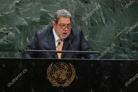 Editorial photo of St Vincent Leader Injured, United Nations - 27 Sep 2019
