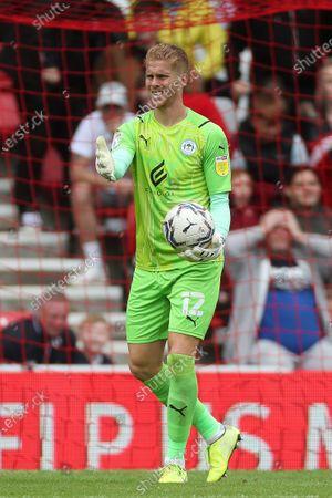 Wigan Athletic goalkeeper Ben Amos