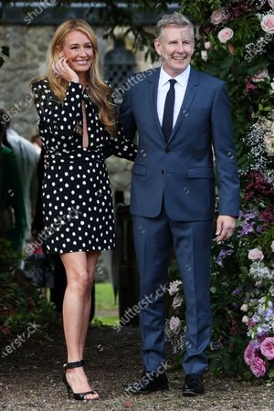 Cat Deeley and Patrick Kielty arrive at St Michael's Church