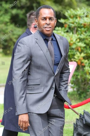 Andi Peters arrives at St Michael's Church
