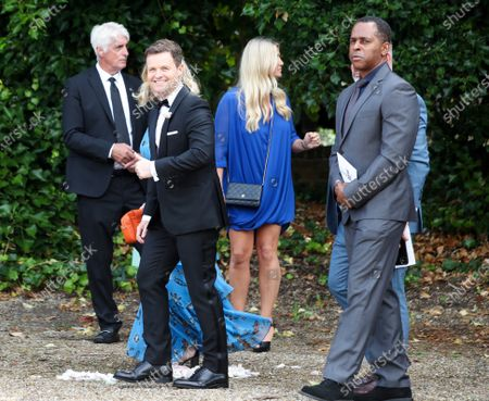 Declan Donnelly and Andi Peters depart St Michael's Church