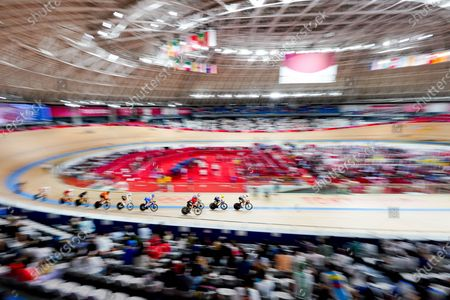 Simone Consonni (ITA),  Roger Kluge (GER) - Cycling : Men's Madison Final during the Tokyo 2020 Olympic Games  at the Izu Velodrome in Shizuoka, Japan.