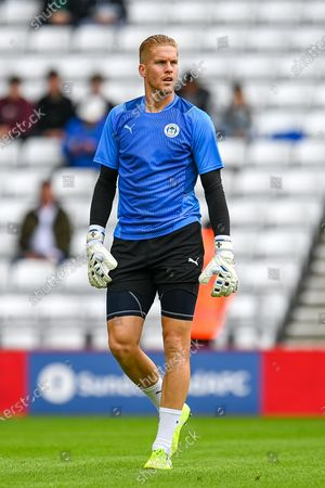 Ben Amos (#12) of Wigan Athletic FC during the warm up before the EFL Sky Bet League 1 match between Sunderland AFC and Wigan Athletic at the Stadium Of Light, Sunderland